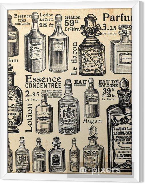 Obraz na płótnie w ramie Perfumeria - Vintage