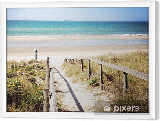 Obraz na płótnie w ramie Plaża - Tematy