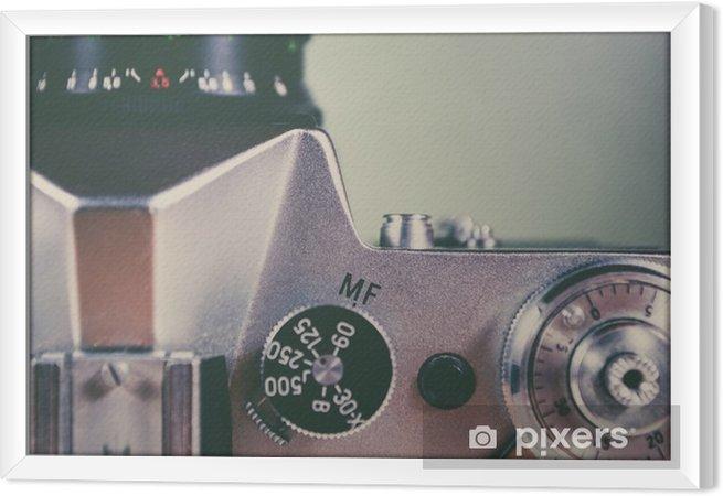Obraz na płótnie w ramie Retro kamery i urządzenia - Hobby i rozrywka