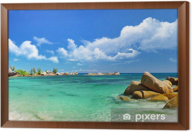 Obraz na płótnie w ramie Seychelles, plaża panorama - Tematy