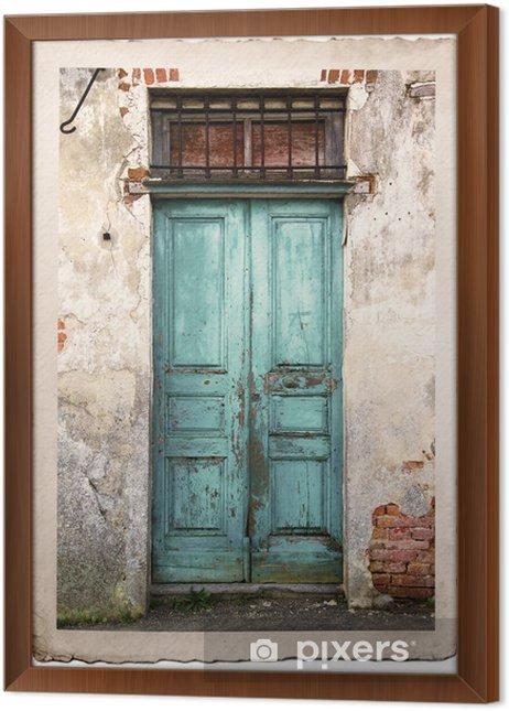 Obraz na płótnie w ramie Stare fotografie archiwalne drzwi - iStaging