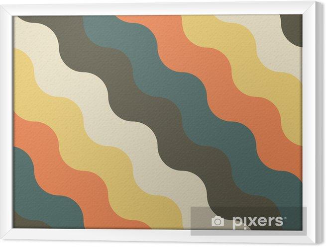 Obraz na płótnie w ramie Streszczenie retro geometryczny wzór - Tła
