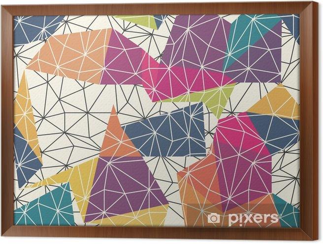 Obraz na płótnie w ramie Szkielet Streszczenie Surface Seamless Pattern - Zasoby graficzne