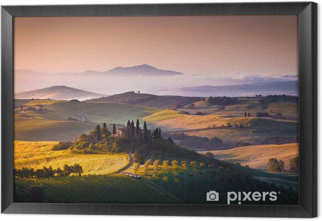 Obraz na płótnie w ramie Toskania panorama - Tematy