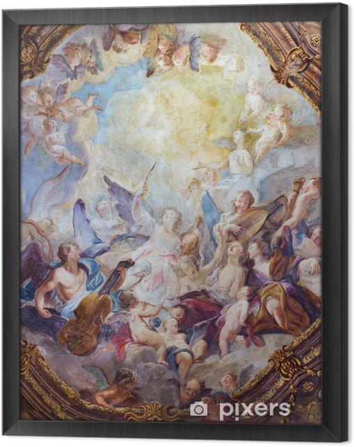 Obraz na płótnie w ramie Wiedeń - anielskie chóry baroku fresk z Michaelerkirche - Tematy