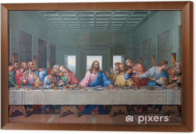 Obraz na płótnie w ramie Wiedeń - mozaika ostatniej wieczerzy - skopiować Leonardo da Vinci - Tematy