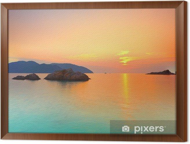 Obraz na płótnie w ramie Wschód słońca - Style