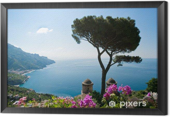 Obraz na płótnie w ramie Wybrzeże Amalfi Widok - Tematy