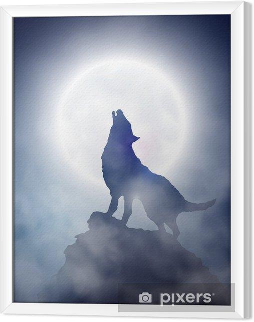 Obraz na płótnie w ramie Wycie wilka - Tematy