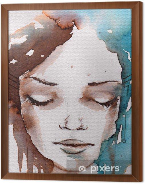Obraz na płótnie w ramie Zima, zimno portret - Style