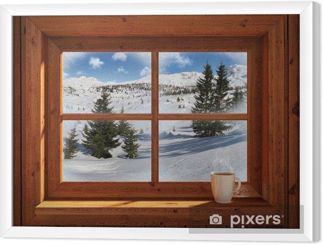 Obraz na płótnie w ramie Zimowy krajobraz - Tematy