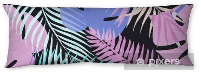 Oreiller de corps Fleurs exotiques tropicales et des plantes avec des feuilles vertes de palmier. - Passe-temps et loisirs