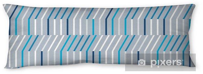 Oreiller de corps Modèle sans couture abstraite des lignes horizontales et diagonales. - Ressources graphiques