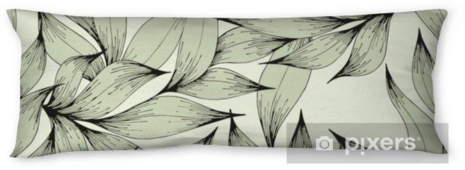 Oreiller de corps Modèle sans couture de vecteur avec des branches et des feuilles. dessin à main levée. motif décoratif pour la conception - Plantes et fleurs