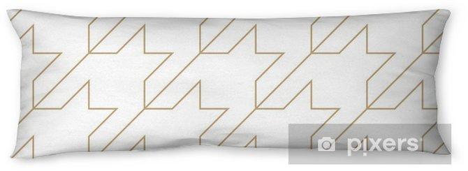 Oreiller de corps Motif géométrique de textile pied-de-poule tendance quadrillé - Ressources graphiques