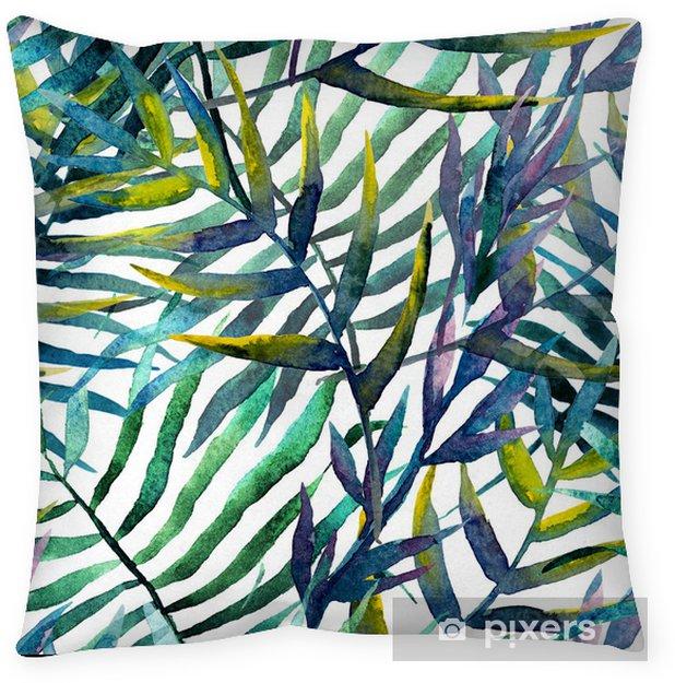 Örngott Lämnar abstrakt mönster bakgrundsbild vattenfärg - iStaging
