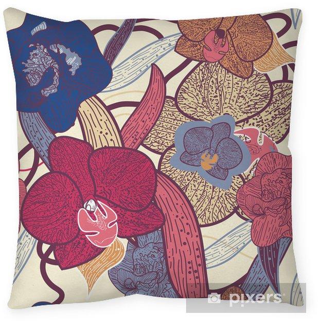 Örngott Sömlös blommig textur - Bakgrunder