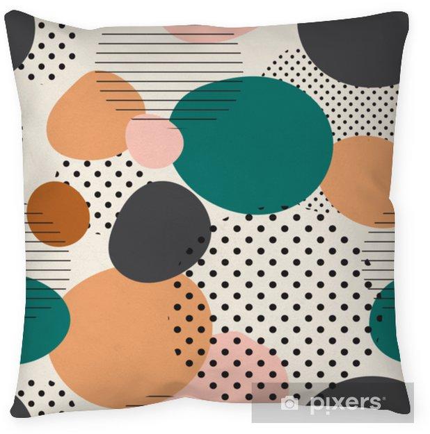Örngott Trendigt sömlöst mönster av geometriska former och klotter. färgglatt mönster memphis stil - Grafiska resurser