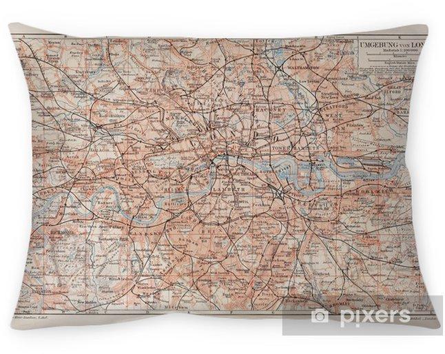 Örngott Vintage karta över London och omgivning - Stilar