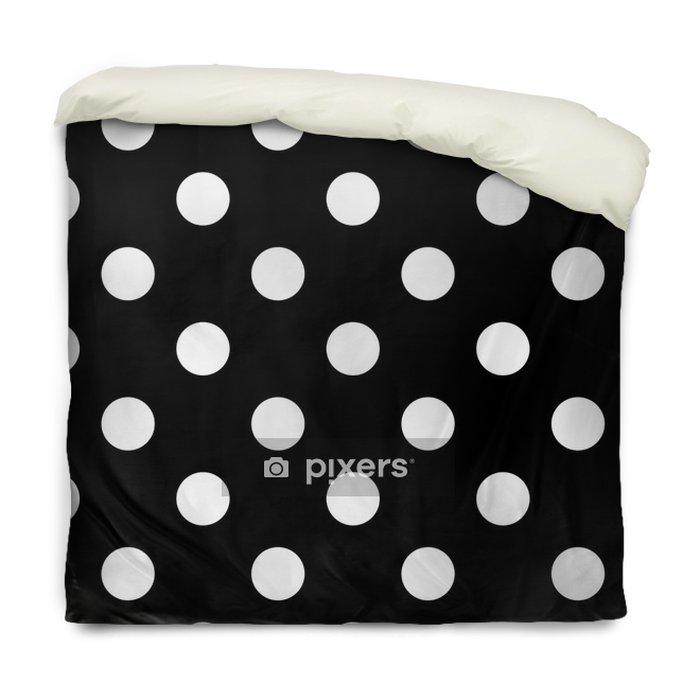 Påslakan Sömlös polka dot svart och vitt - Grafiska resurser