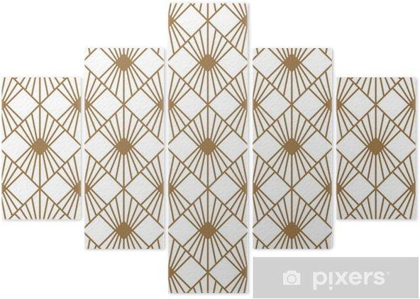 Pentáptico Estilo art deco textura de patrones sin fisuras - Recursos gráficos