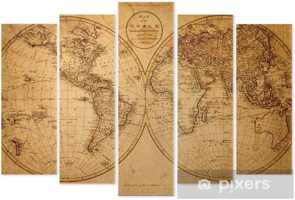 Pentáptico old map 1799 - Temas