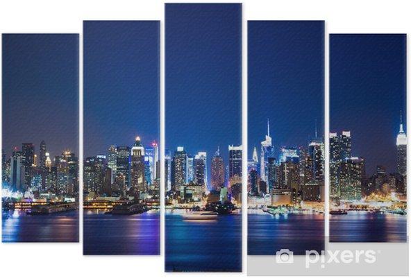 New York Manhattan skyline Pentaptych - Themes