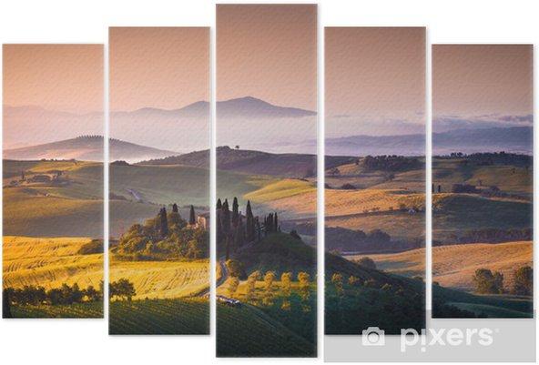 Tuscany panorama Pentaptych - Themes