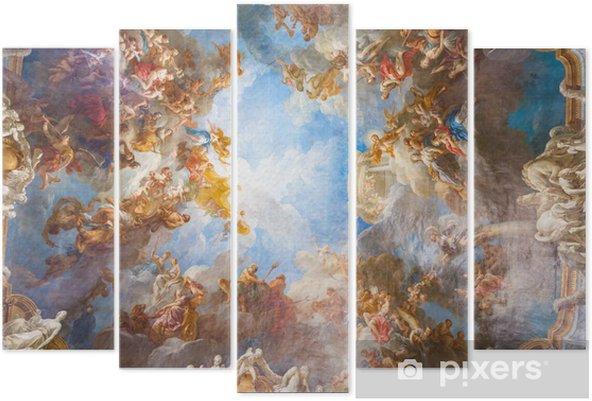 Pentaptychon Deckengemälde von Palace Versailles in der Nähe von Paris, Frankreich - Denkmäler