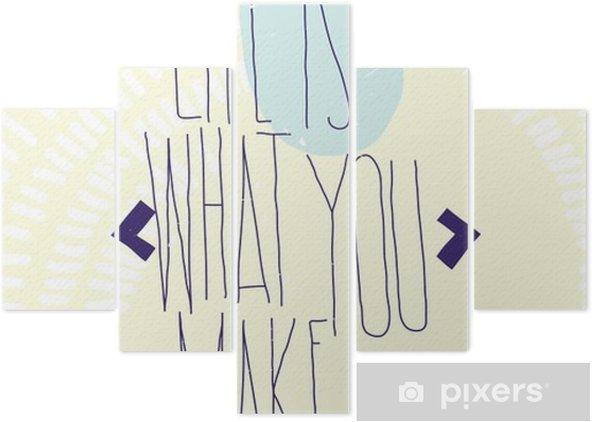 Pentaptychon Einfach inspirierend motivierend zitiert Plakat mit Diamanten, dood - Business