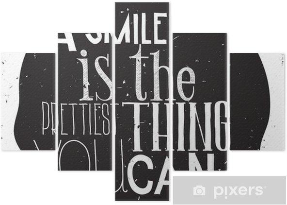 Pentaptychon Einfache stilvolle Motivplakat, an jedem Tag - Gefühle, Emotionen und Geisteshaltung