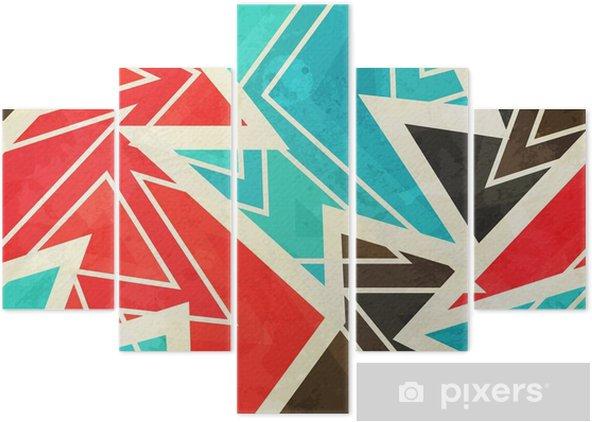 Pentaptychon Jugend geometrische nahtlose Muster mit Grunge-Effekt - Grafische Elemente