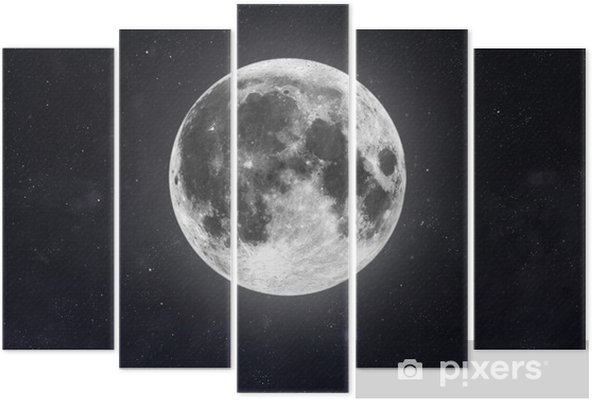 Pentaptychon Mond - Weltall