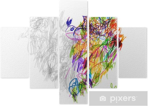Pentaptych Tvar Srdce Kresba Tuzkou Pro Svuj Design Pixers