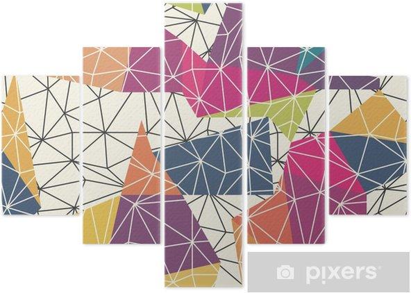 Pentaptyk Wireframe abstrakt yta Seamless - Grafiska resurser