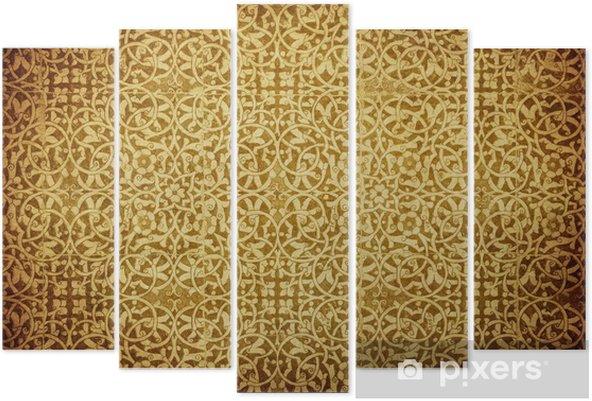 Pentaptyk Grunge z orientalnymi ornamentami. - Style