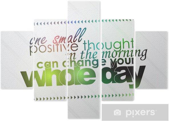 Pentaptyk Jedna Pozytywna Myśl Może Zmienić Twój Dzień
