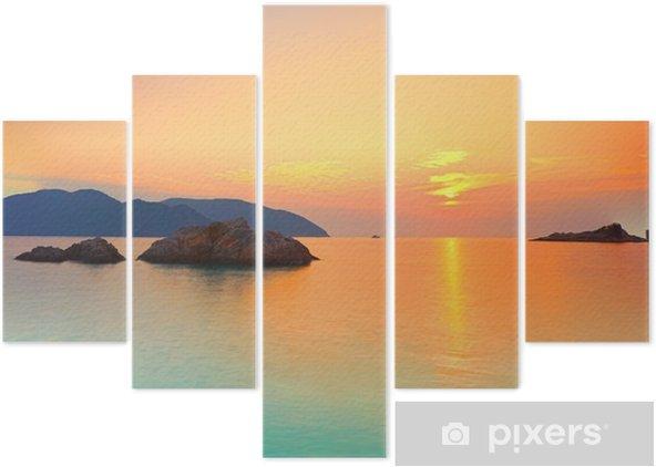 Pentaptyk Wschód słońca - Style