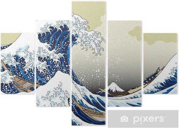 Pentaptyque 富 嶽 三 十六 景 神奈川 沖浪 - Paysages