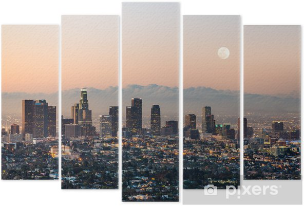 Pentaptyque Los angeles skyline - Thèmes