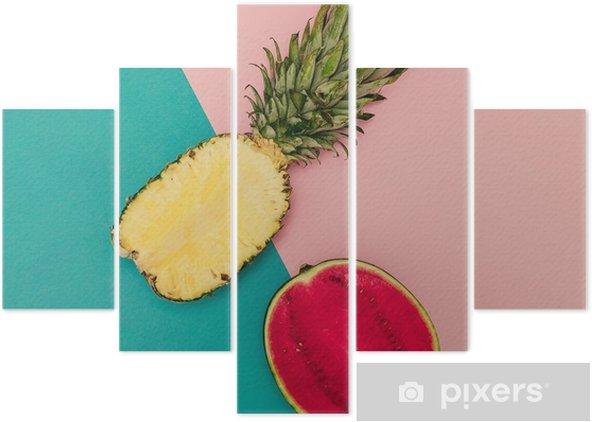 Pentittico Mix tropicale. Ananas e anguria. Stile minimal - Stili di vita