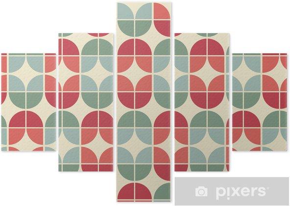 Pentittico seamless piastrelle geometriche modello in stile vintage