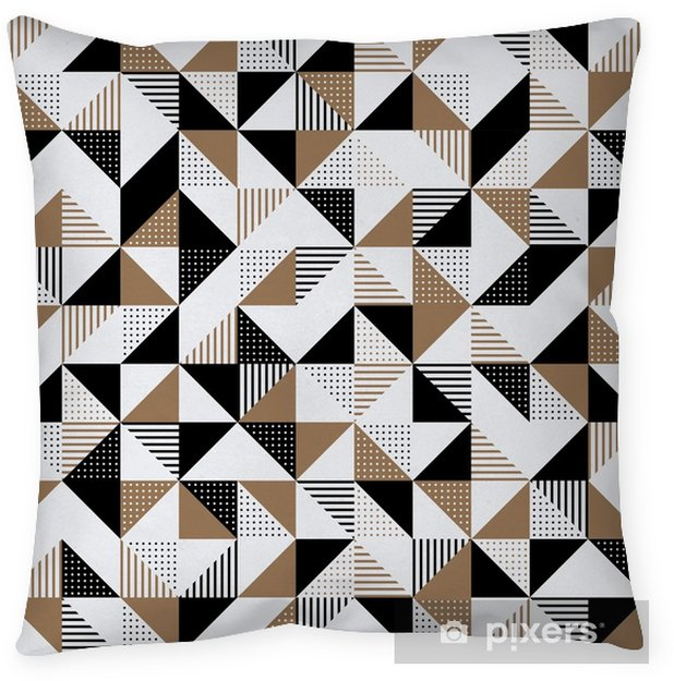 A gold and black geometric background. Pillow Cover - Graphic Resources