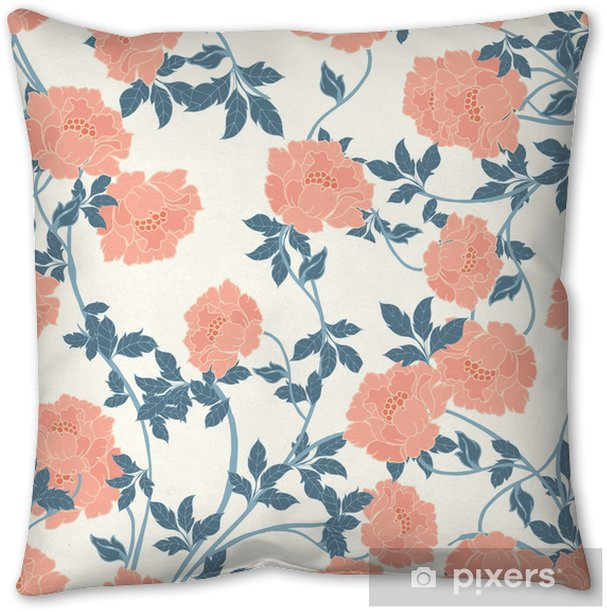 Abstract elegance pattern with floral background. Pillow Cover - Plants and Flowers