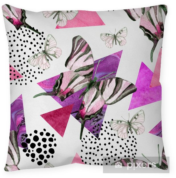 Abstract natural geometric seamless pattern Pillow Cover - Animals