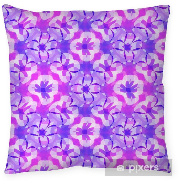 Cabbage Rose Flower Print Purple Abstract Art Kitchen Wall: Abstract Purple Floral Pattern, Violet Tiled Texture