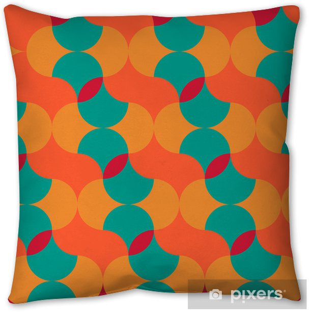 abstract retro geometric pattern Pillow Cover - Backgrounds