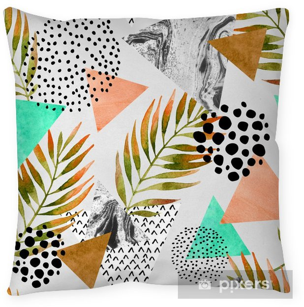 Abstract summer geometric seamless pattern Pillow Cover - Graphic Resources