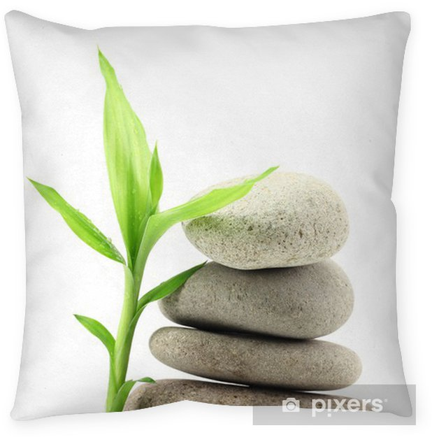 Bamboo Leafs And Zen Stones Pillow Cover Pixers We Live To Change
