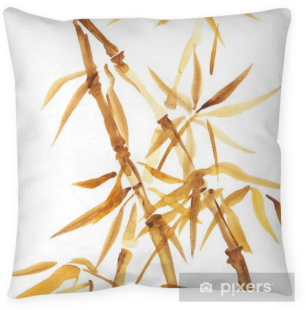 Bamboo Watercolor Asian Style Painting Pillow Cover Pixers We Delectable Asian Pillow Covers